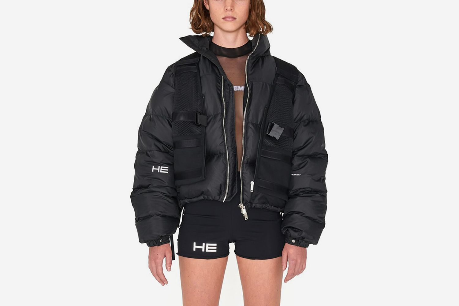 Cropped Goose Down Jacket