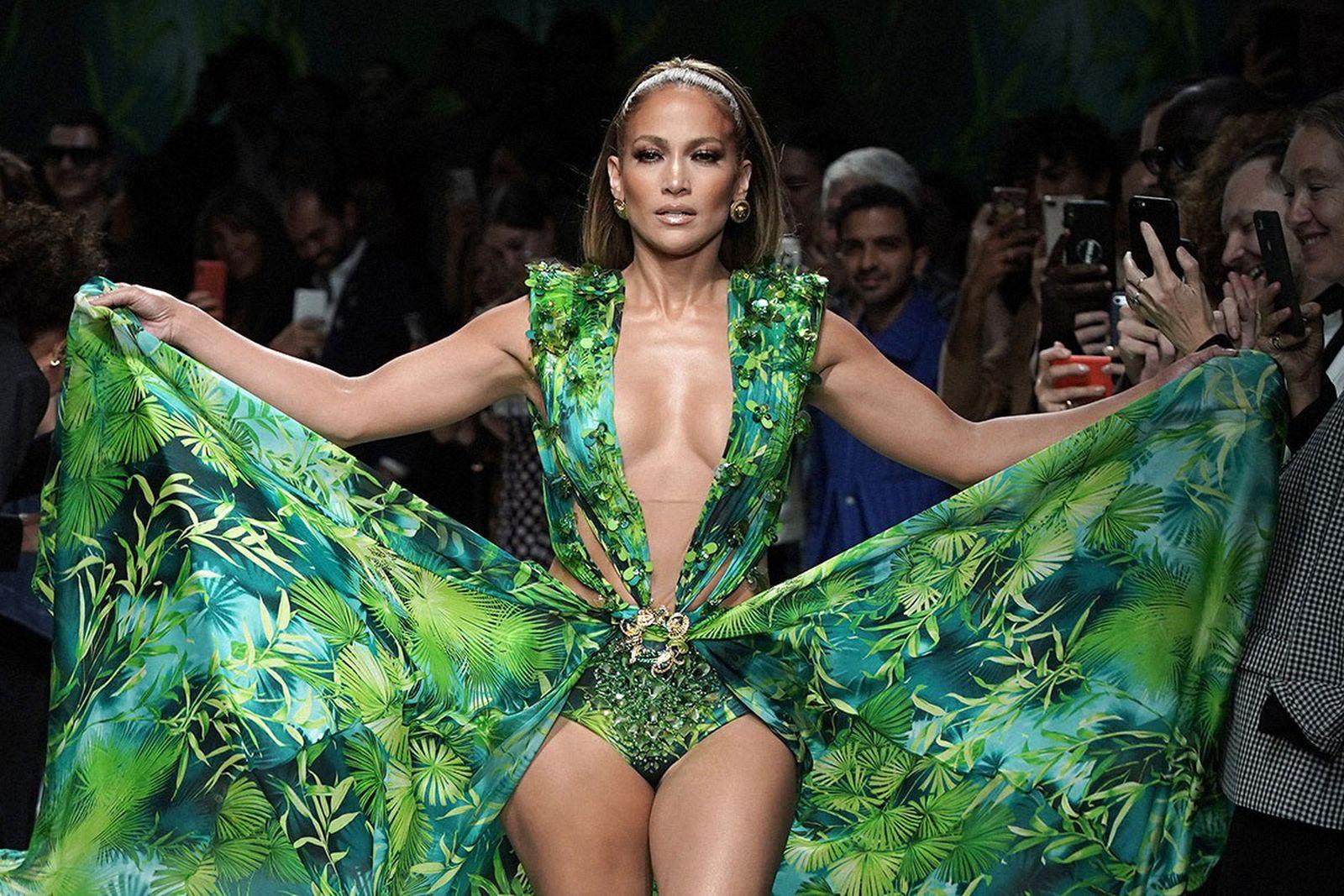 Jennifer Lopez Versace Jungle Print dress