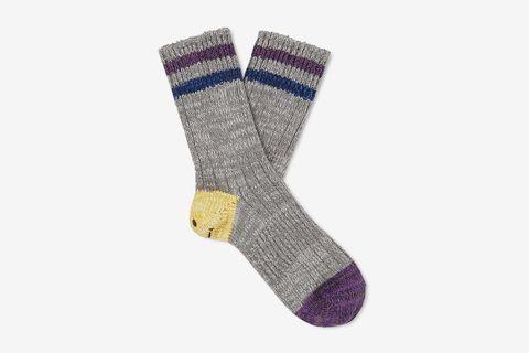 Ivy Smilie Striped Cotton and Hemp-Blend Socks