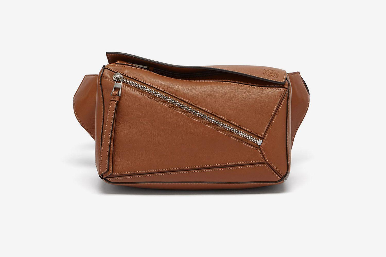 Puzzle Leather Belt Bag