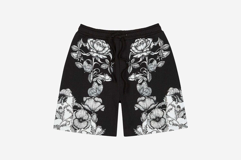 Printed Cotton Shorts
