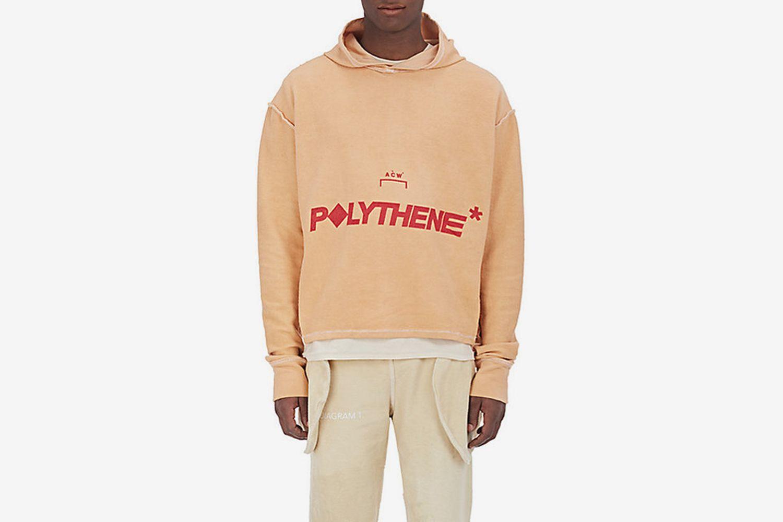 """Polythene*"" Cotton Hoodie"