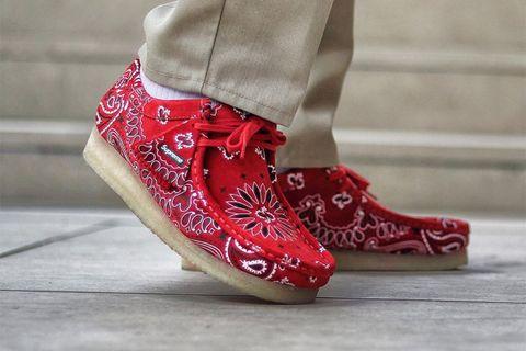 supreme clarks paisley wallabees best instagram sneakers ASICS Tiger GEL-Lyte III Air Jordan Clarks Originals Wallabee