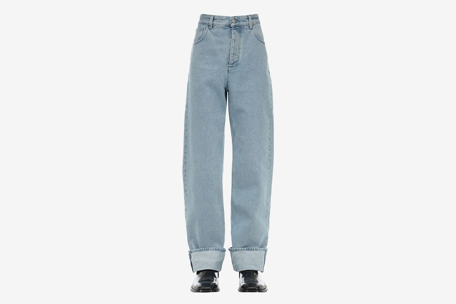 Bleached Cotton Denim Jeans