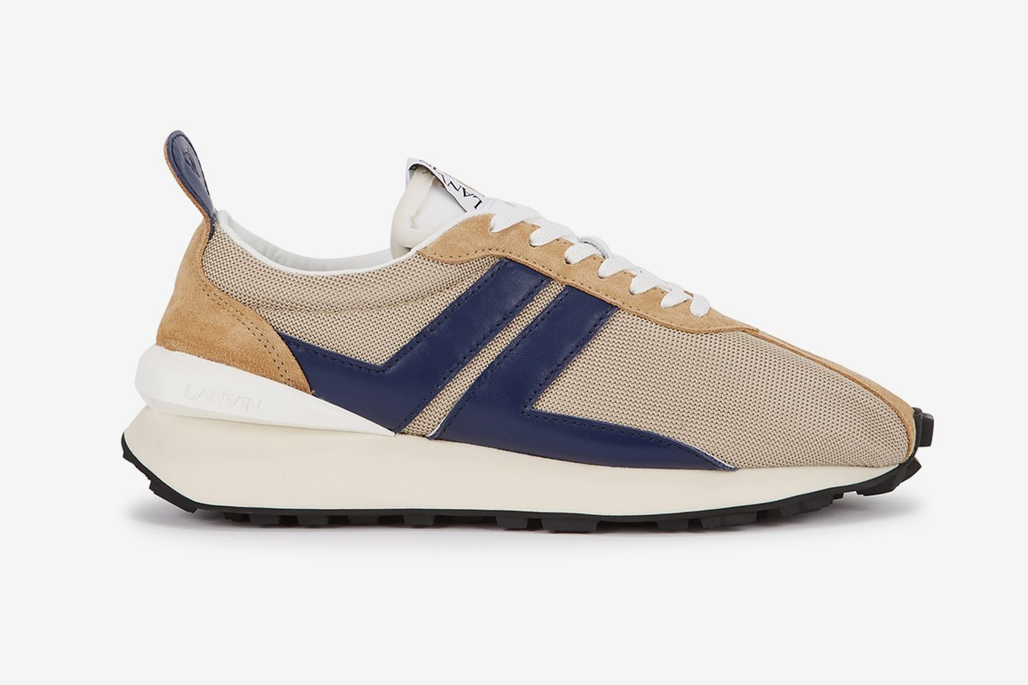 Bumper Taupe Panelled Sneakers
