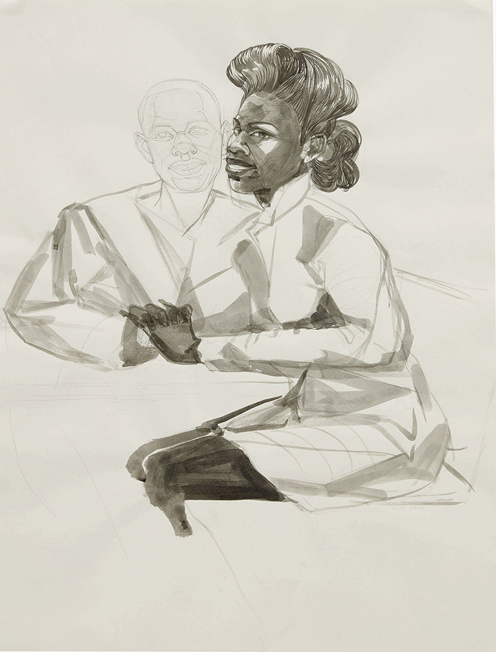 Kerry James Marshall, Untitled (Study for Club Couple