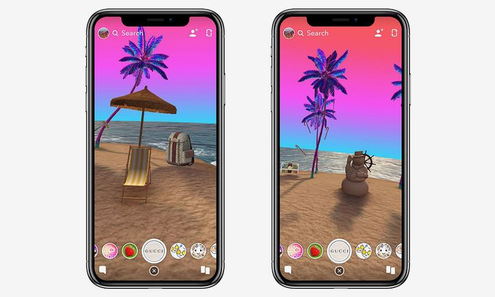 Snapchat Gucci Portal Lens