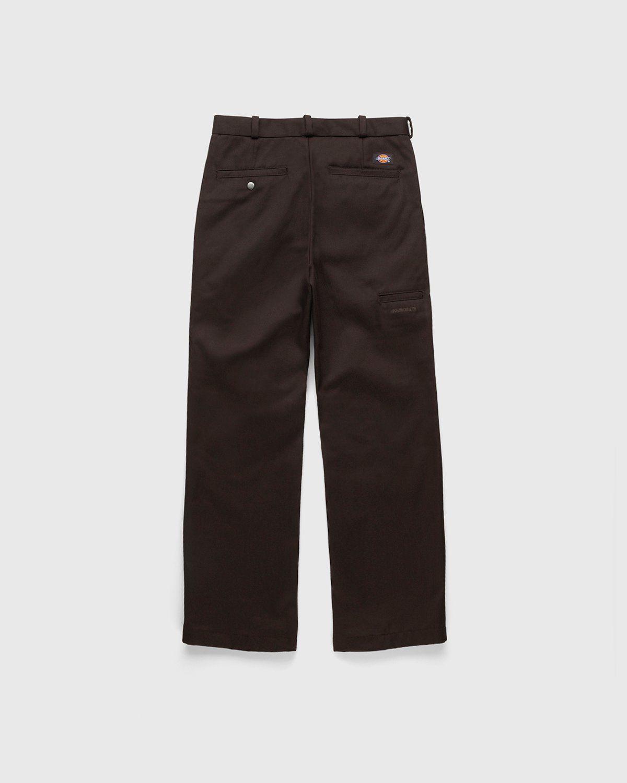 Highsnobiety x Dickies – Pleated Work Pants Dark Brown - Image 2