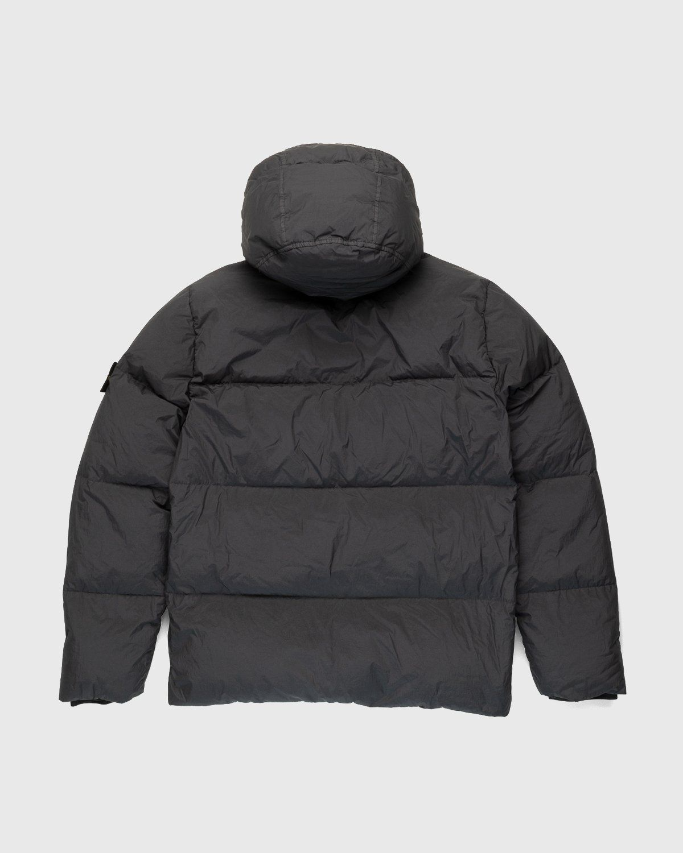 Stone Island – Real Down Jacket Charcoal - Image 2
