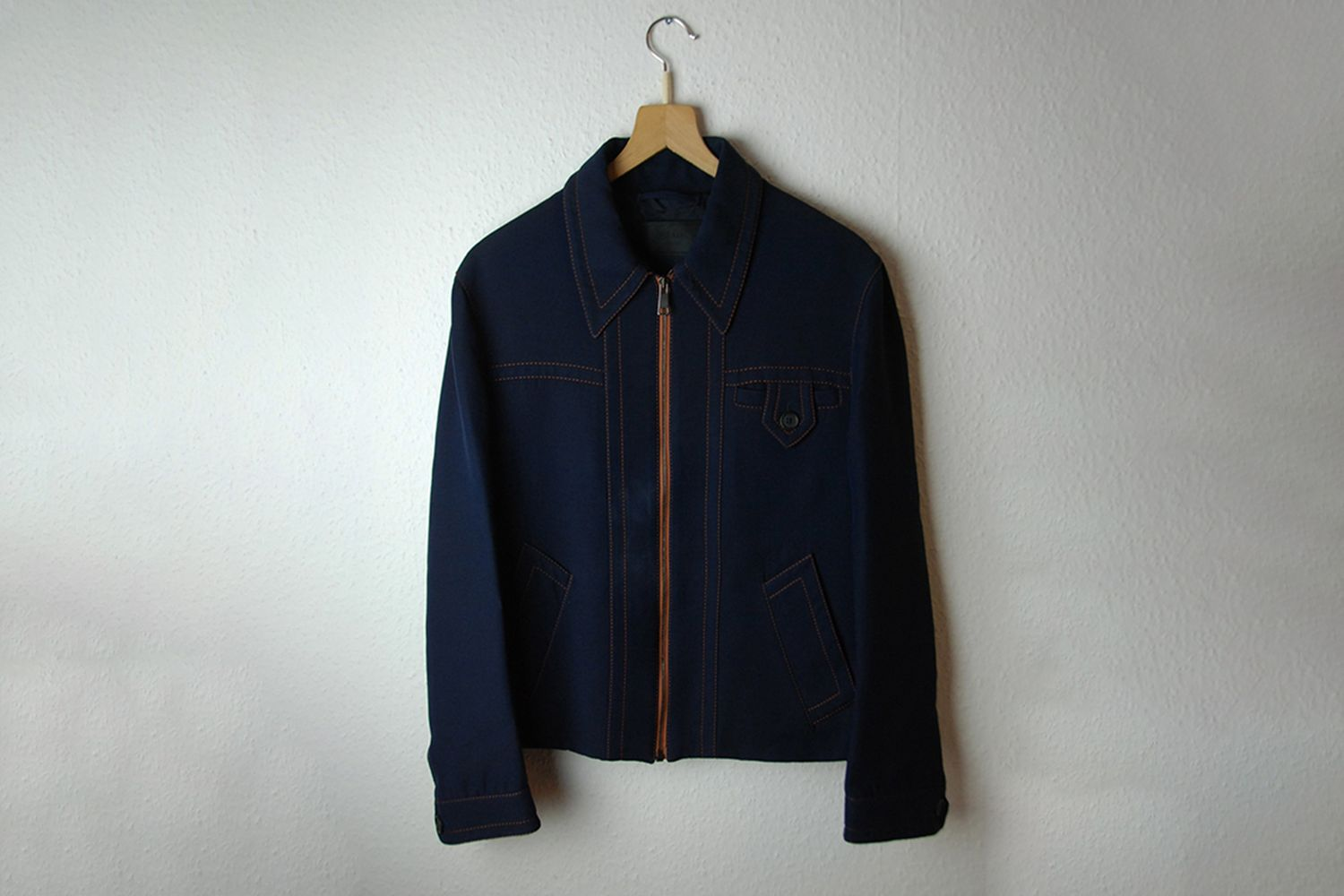Jacket With Contrasting Stitching