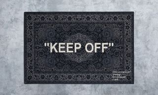 "Here's Your Chance to Cop Virgil Abloh's ""KEEP OFF"" IKEA Rug"