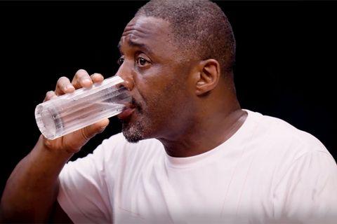 Idris Elba Choking on Hot Wings Is the Best Reaction Meme