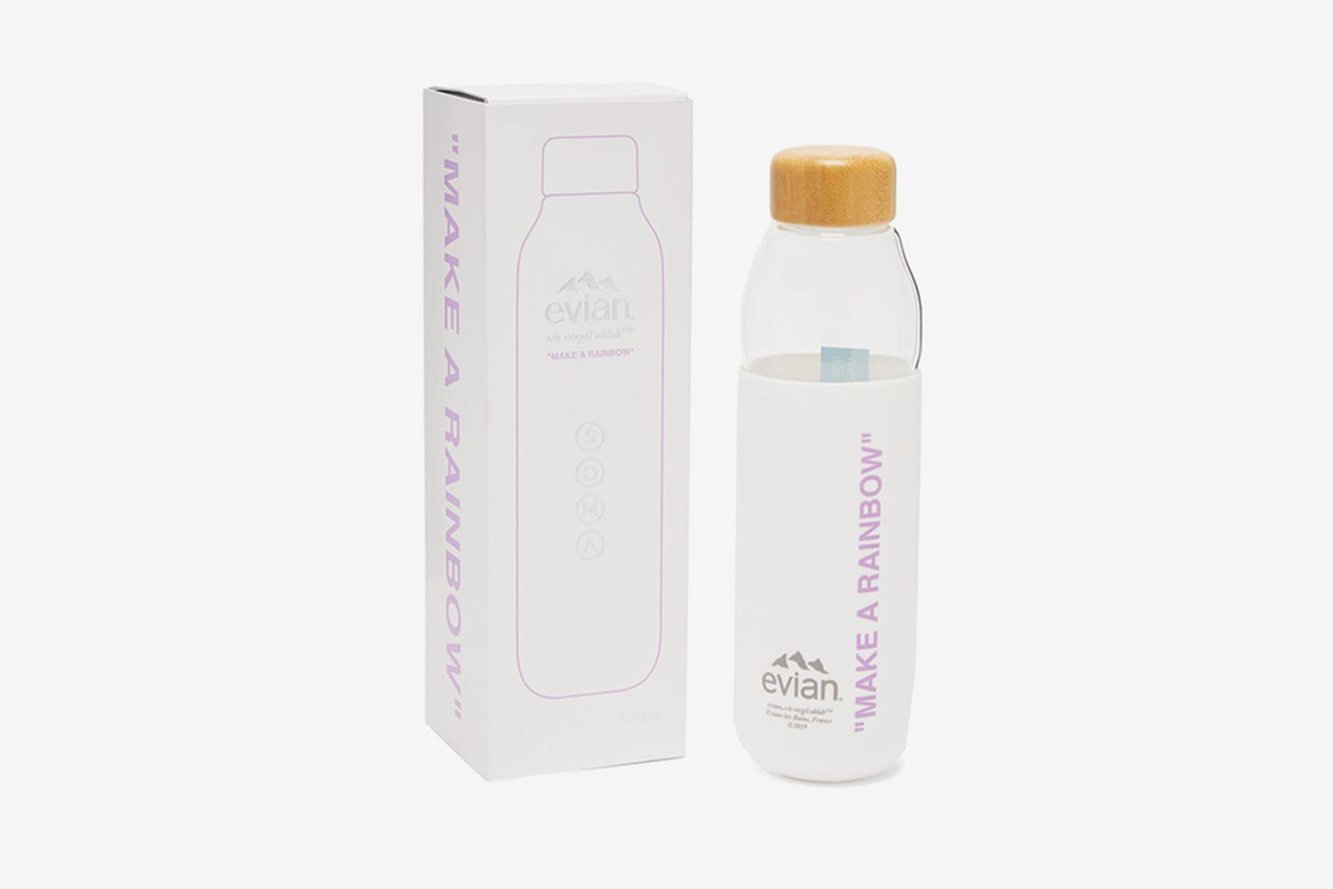 Soma Silicone-Sleeve Glass Water Bottle