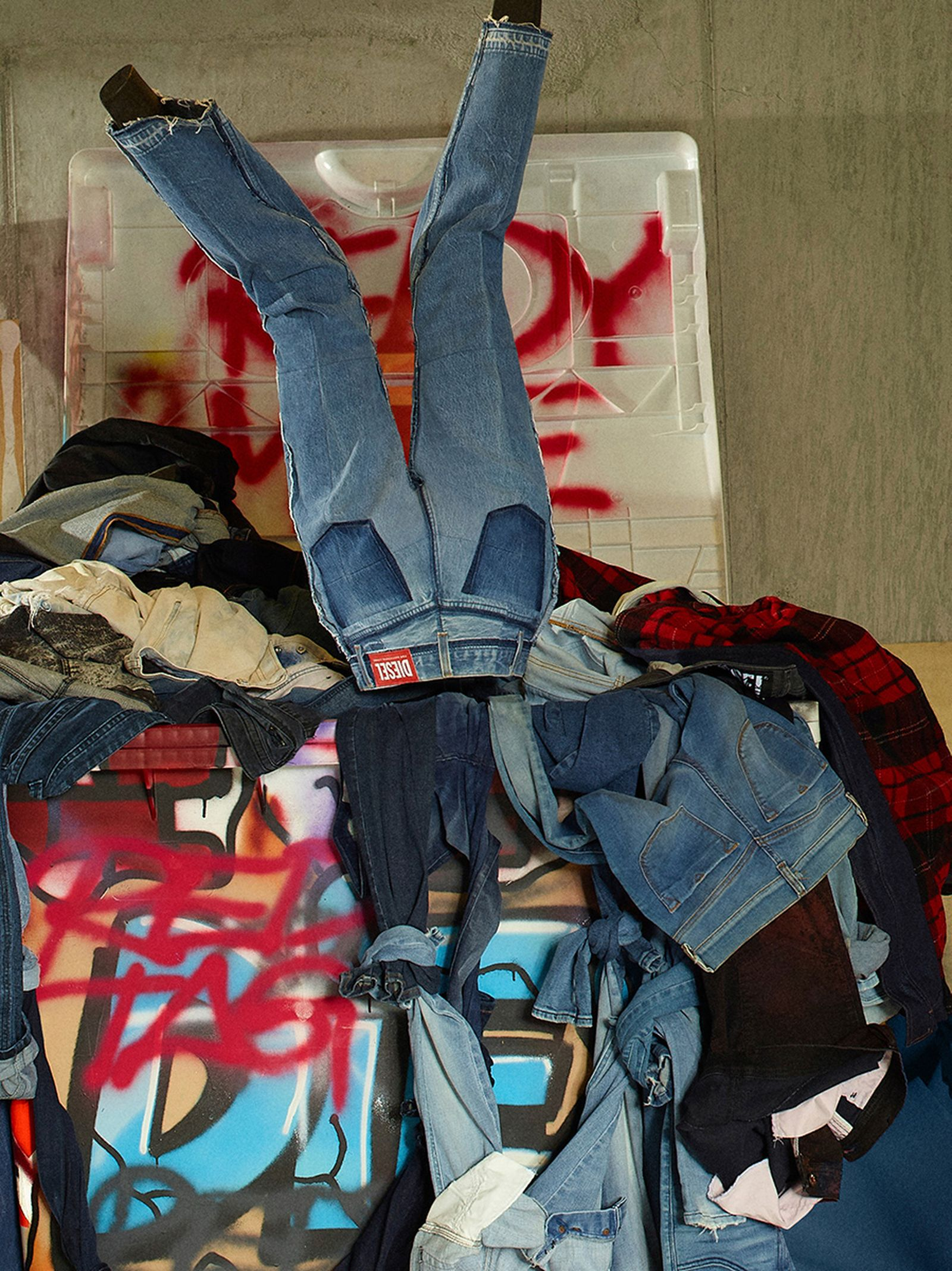 READYMADE Diesel Red Tag jeans