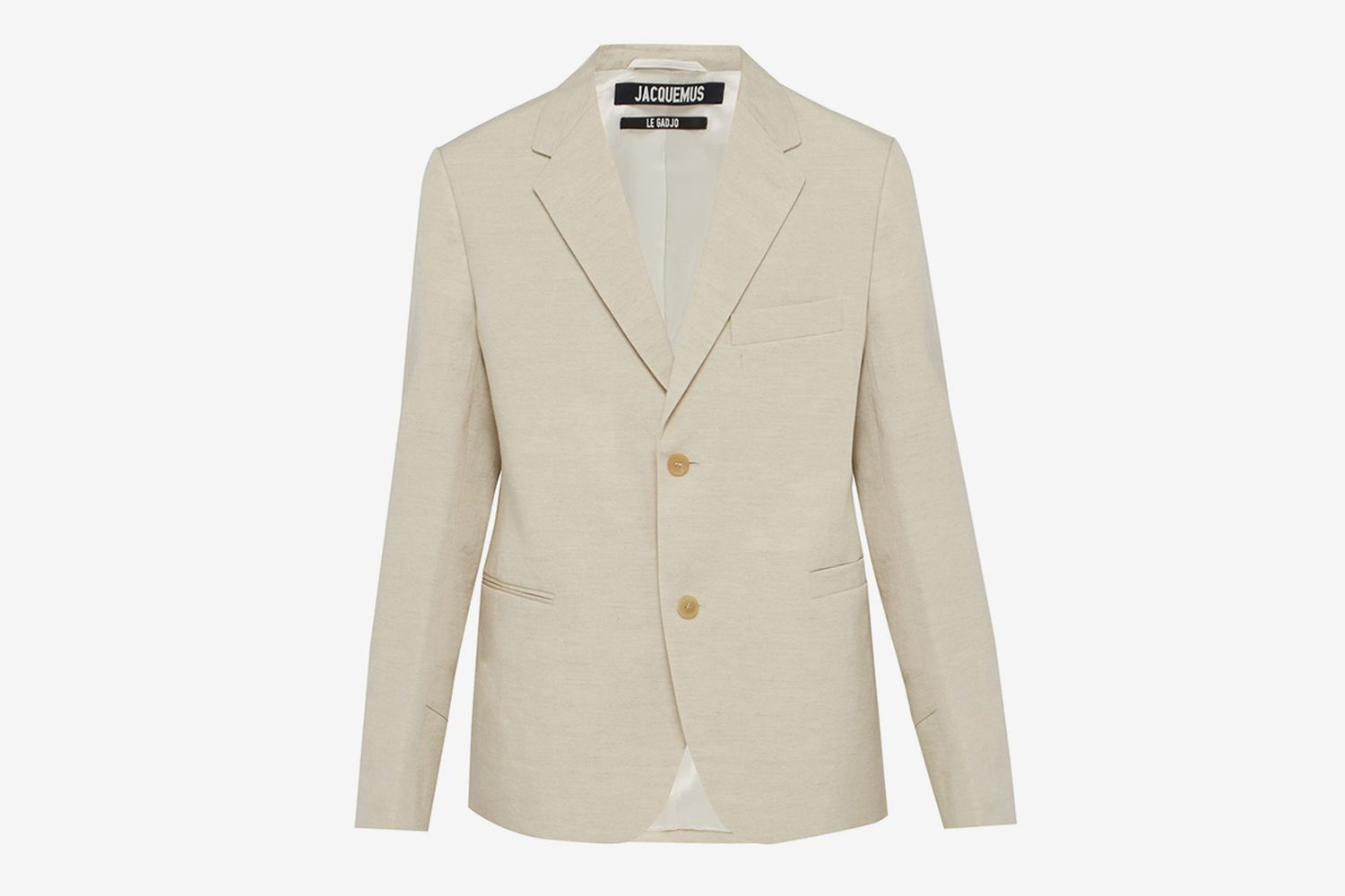 Single Breasted Linen Blend Blazer