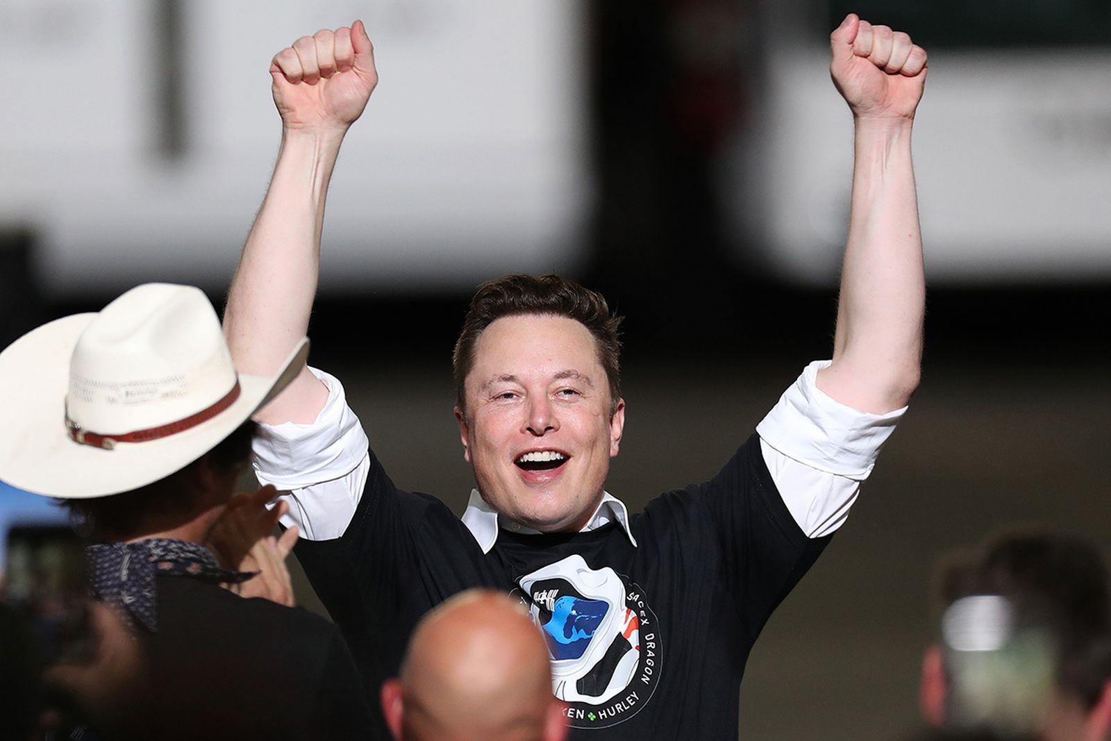 Elon Musk smiling