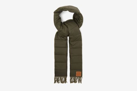 Anagram Quilted Cashmere & Technical-poplin Scarf
