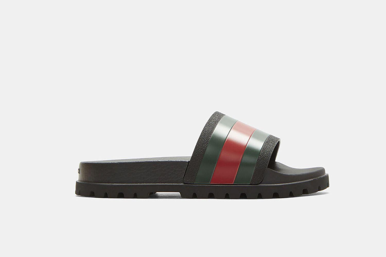 Tricolor Stripe Sandals