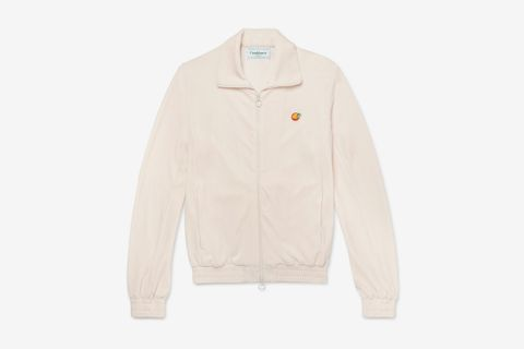 Slim-Fit Appliquéd Velour Track Jacket