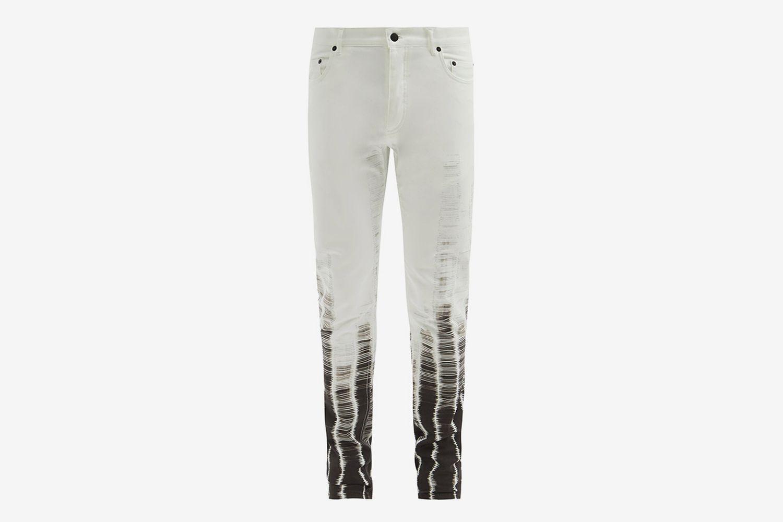 Dyed Slim-Leg Jeans
