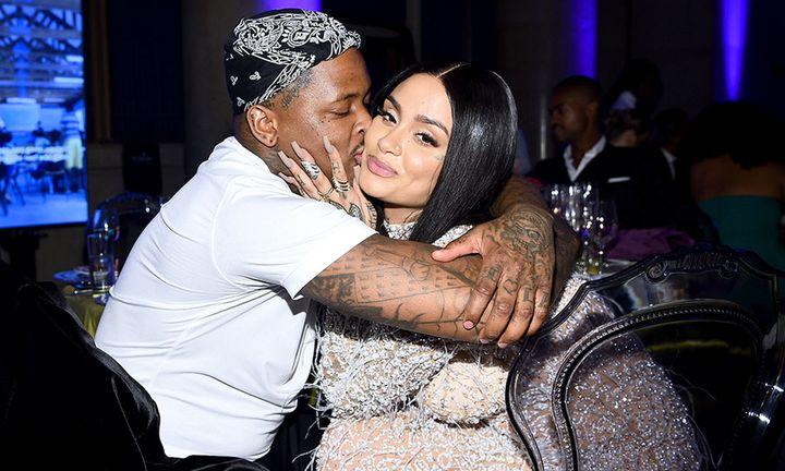 YG and Kehlani attend Rihanna's 5th Annual Diamond Ball