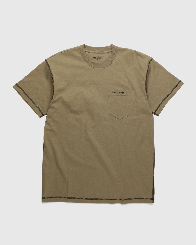 Carhartt WIP – Nazka Pocket T-Shirt Brown - Image 1