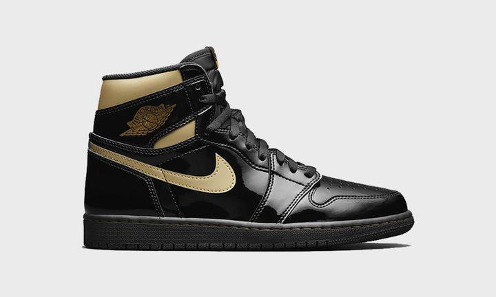 Air Jordan 1 black gold