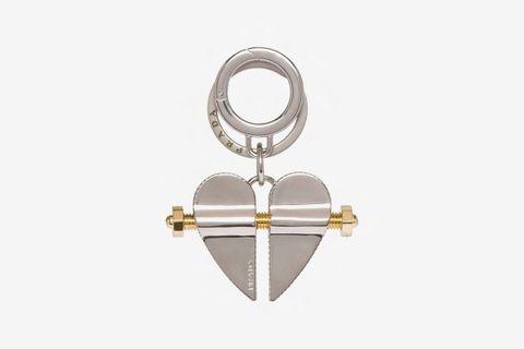 Split Heart Keyring