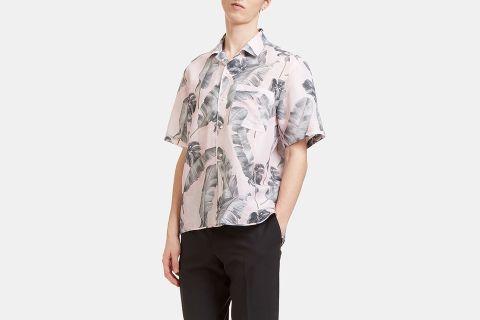 Tropic Print Short Sleeved Shirt
