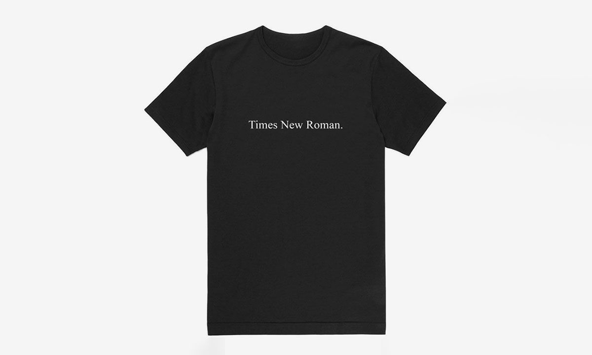 Nail Minimalism With this Times New Roman. 100% Cotton Tee