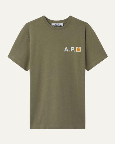 A.P.C. x Carhartt WIP - Fire T-Shirt Khaki