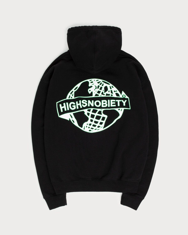 Highsnobiety x L'AS du FALLAFEL - Logo Hoodie Black - Image 1