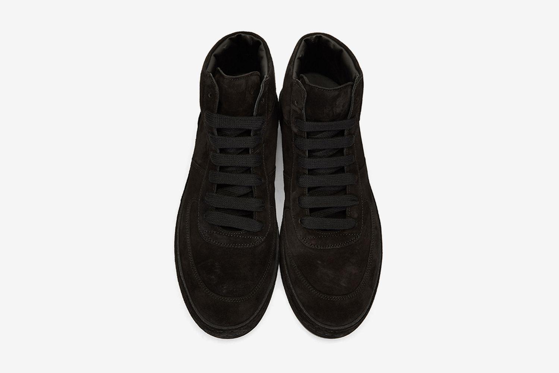 Suede High-Top Sneakers