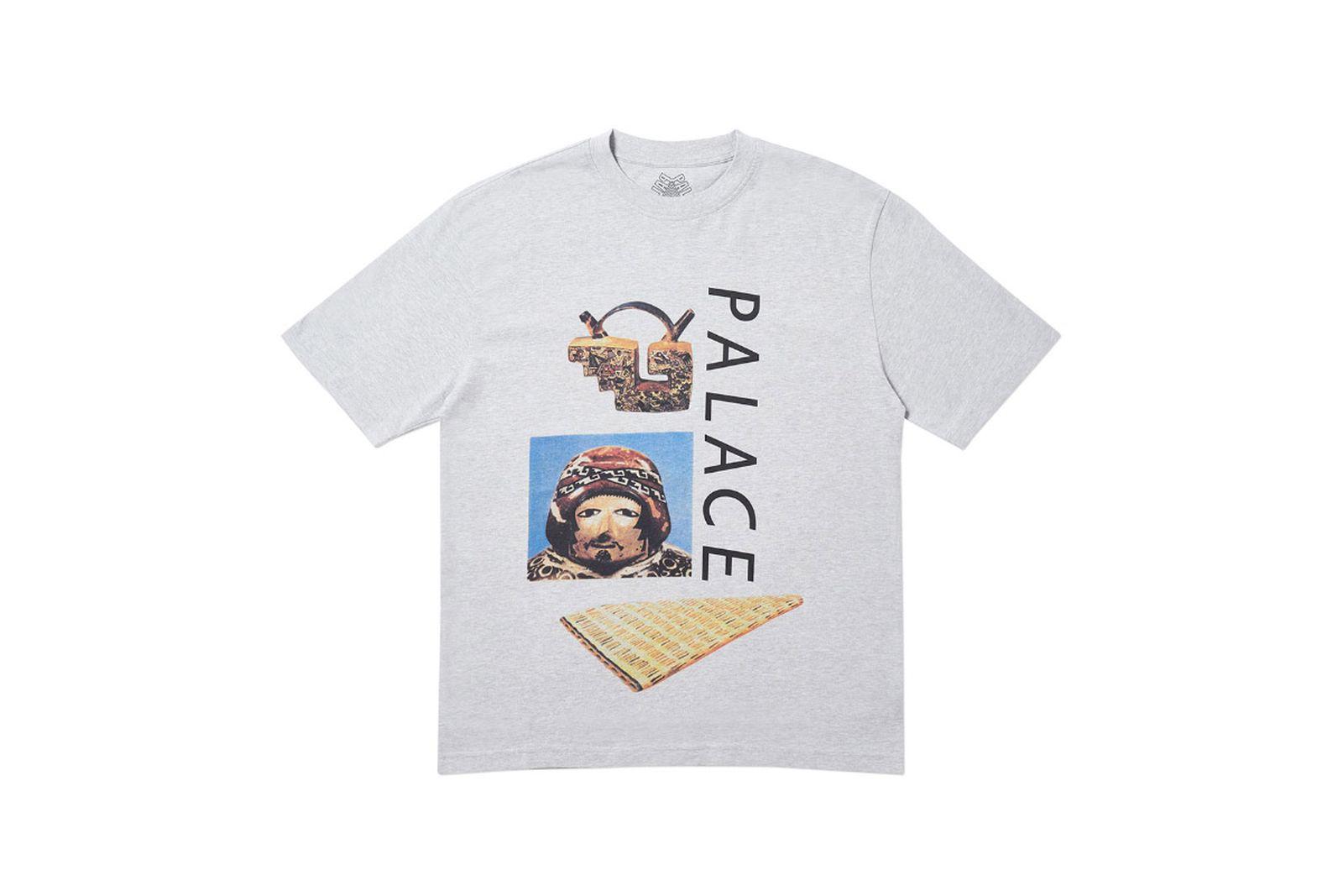 Palace 2019 Autumn T Shirt Tactic grey marl