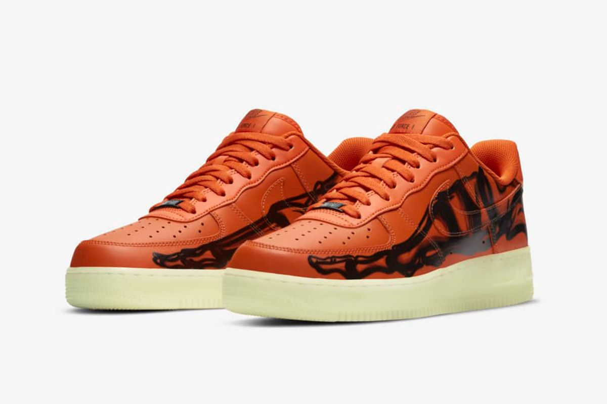 Nike's Orange Skeleton Air Force 1 Is Its Most Ghoulish Yet 3