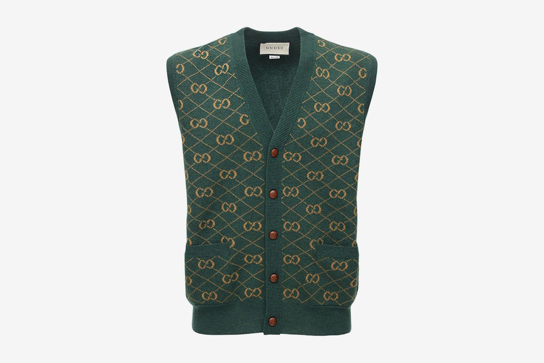 GG Wool Jacquard Sweater Vest