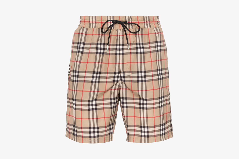 Vintage Check Drawcord Swim Shorts