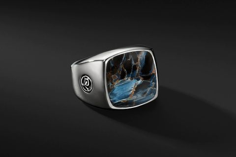 Exotic Stone Signet Ring w/ Pietersite