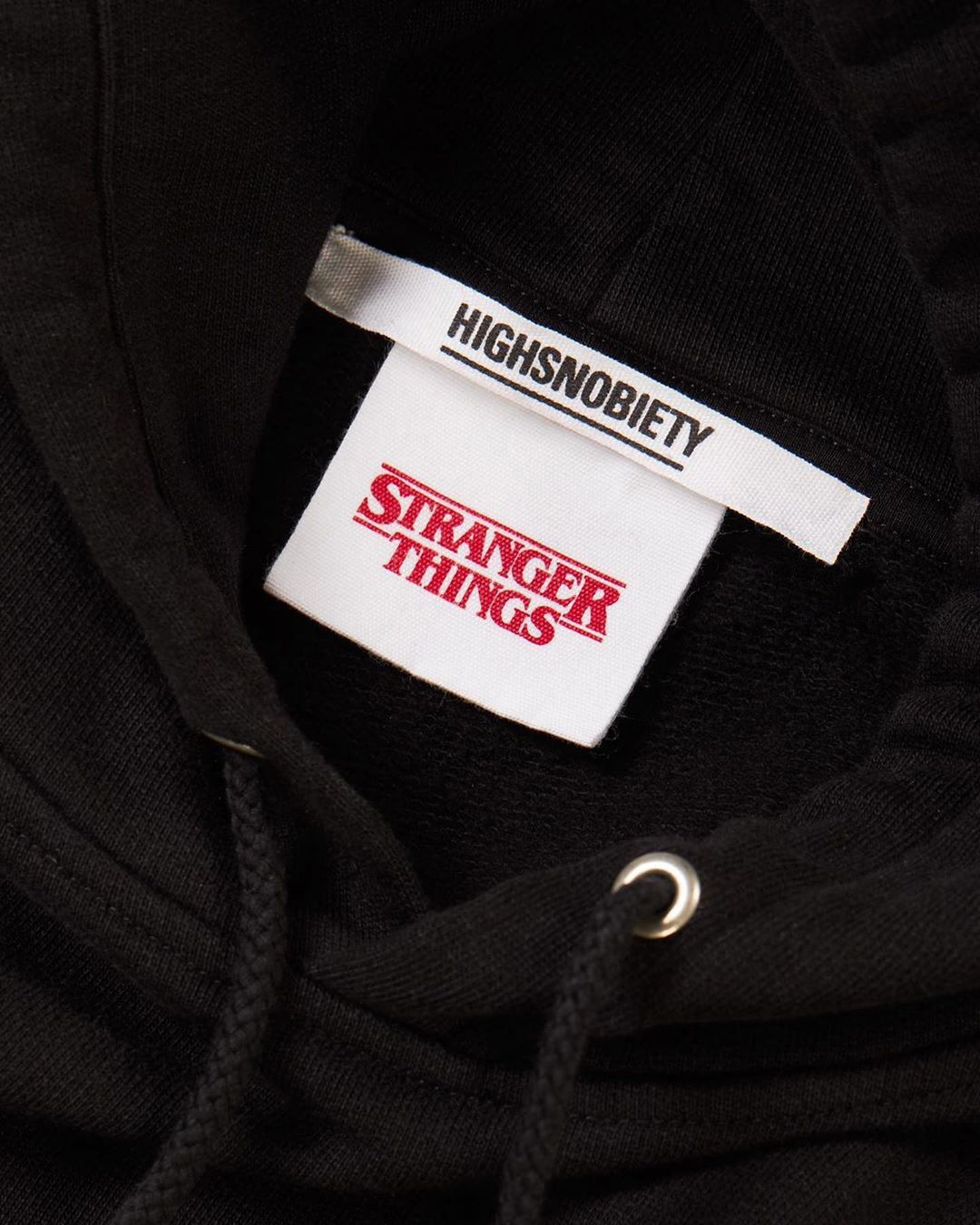 Stranger Things 3 x Highsnobiety Logo Hoodie - Black - Image 3