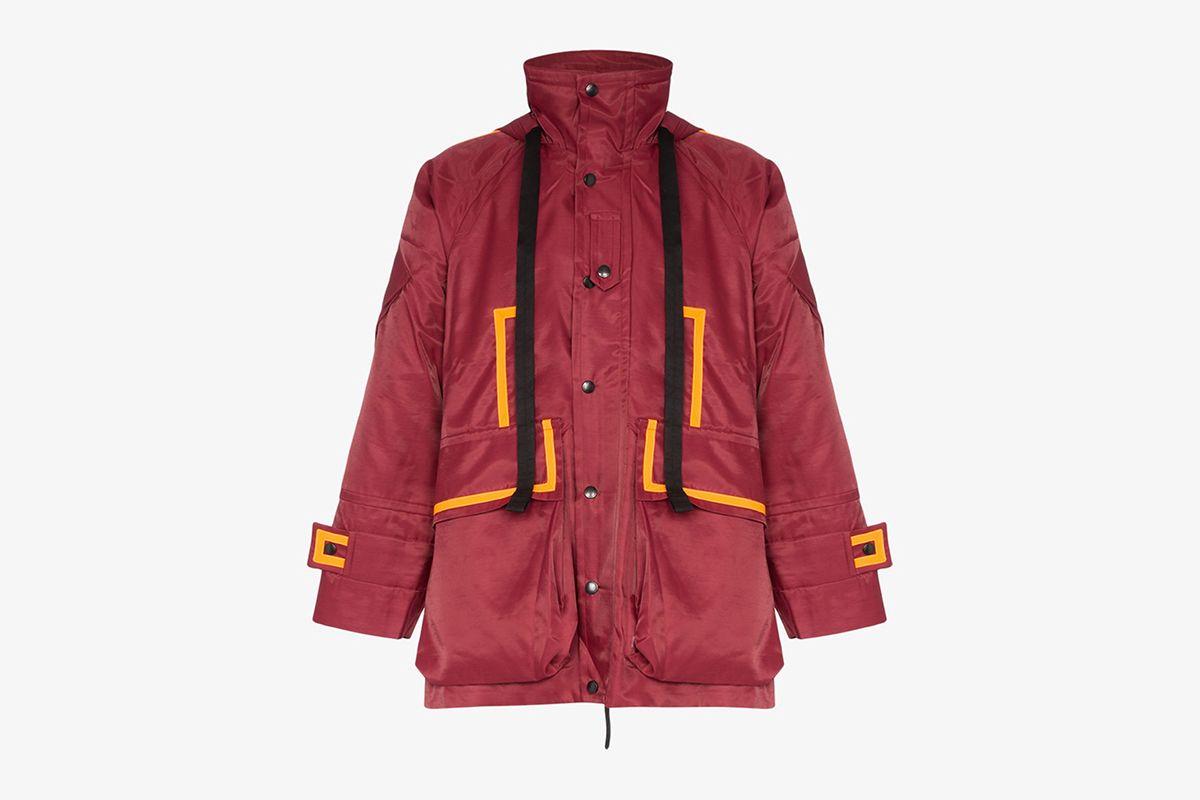 Beam Contrast Trim Parka Jacket