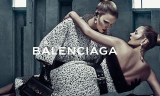 Kate Moss and Lara Stone Get Close for Balenciaga's Fall 2015 Campaign