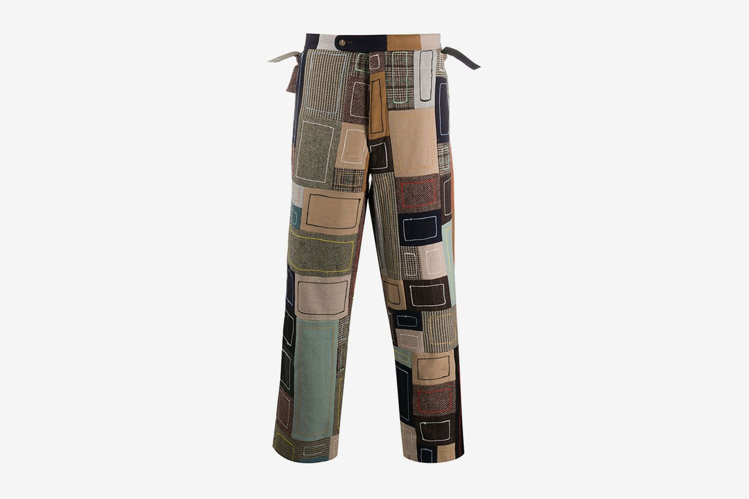 Patchwork Embroidered Trousers