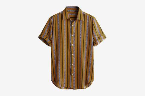 Cotton Printed Hawaiian Shirt