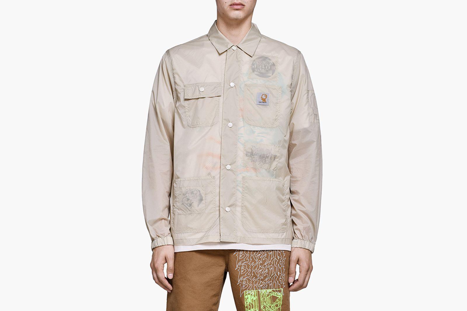 braindead x carhartt chore coat beige brain dead carhartt wip