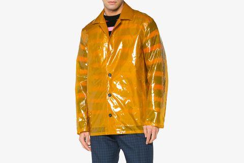 Transparent Button Up Coat