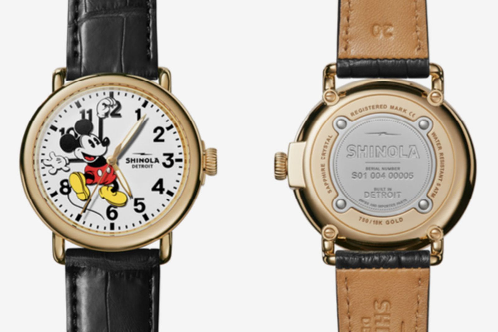 StockX 18k Gold Shinola Disney Watch