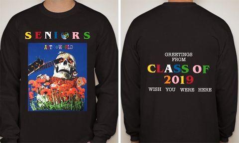 travis scott houston graduation sweater design