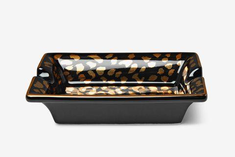 Leopard-Print Ceramic Ashtray