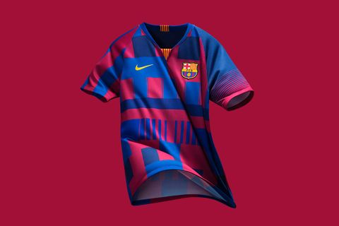 abc996be4dd Nike & FC Barcelona Unveil Mashup Jersey to Celebrate 20th Anniversary