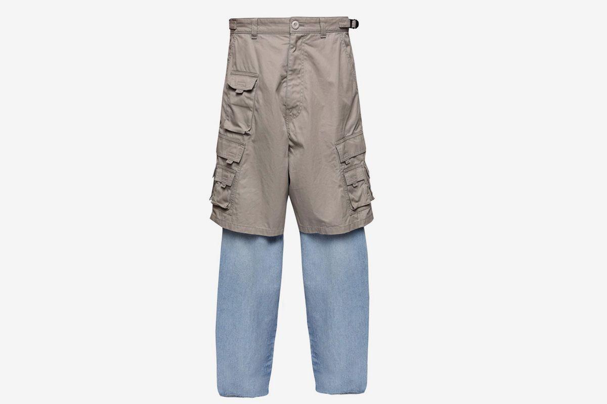 balenciaga cargo shorts-jeans